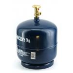 Dujų balionas 3 kg (buitiniu ventiliu)